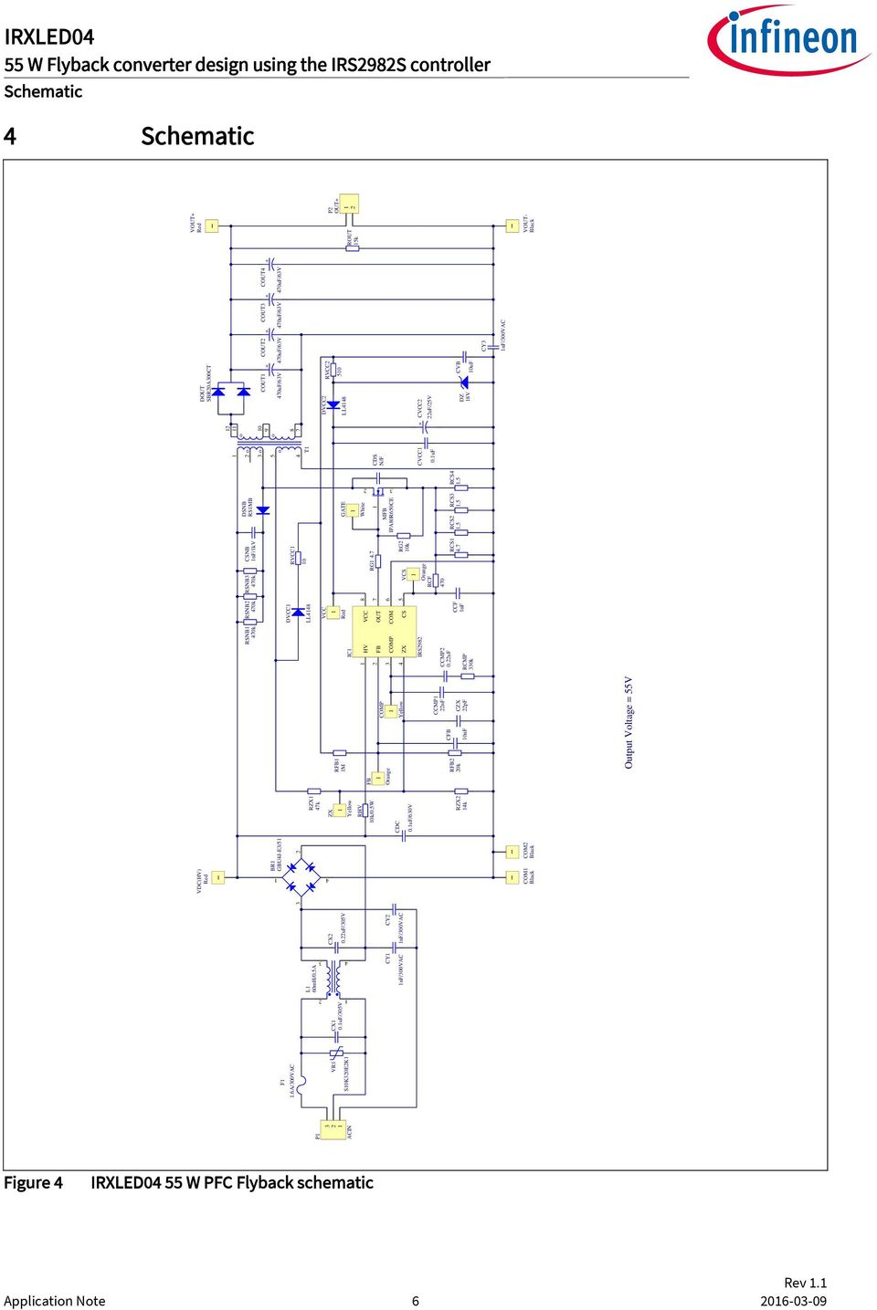 55 w flyback converter design using the irs2982s controller irxled04