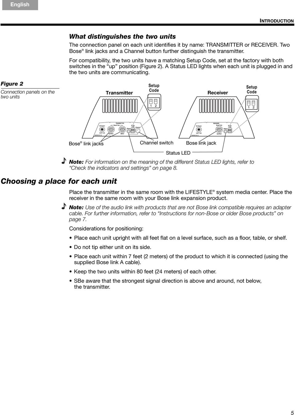 Bose Link Al8 Homewide Wireless Audio Pdf Lifestyle 235 Home Theater Wiring Diagram For Compatibility The Two Units Have A Matching Setup Code Set At Factory