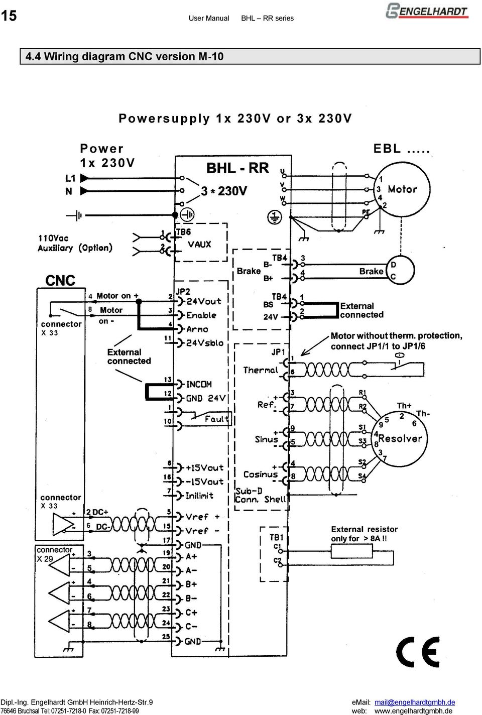 Servoamplifiers For Brushless Motors Series Bhl Rr Pdf Abb Vfd Wiring Diagram Free Picture Schematic 16 User Manual 45 Main Supply Connections Tb3 R S T Line Connection Tri Phases 220v Pe Gnd Screw Ring Or Fork Terminal 35 Mm