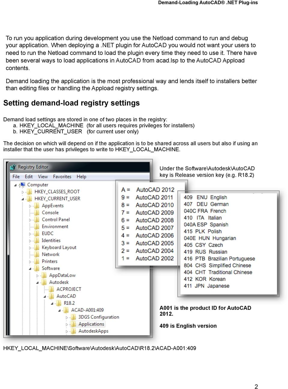 Demand-Loading AutoCAD NET Plug-ins - PDF