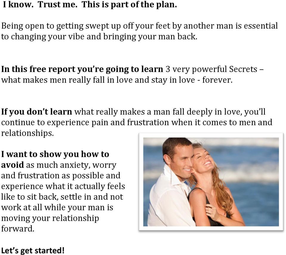 3 Secrets To Making Him Fall In Love All Over Again - PDF