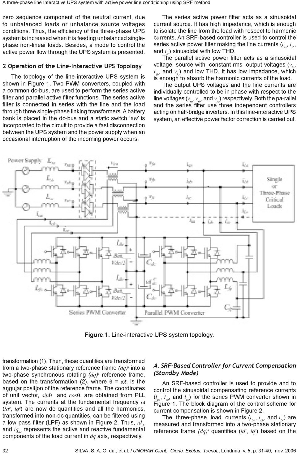 A Three-Phase Line Interactive UPS system with active power
