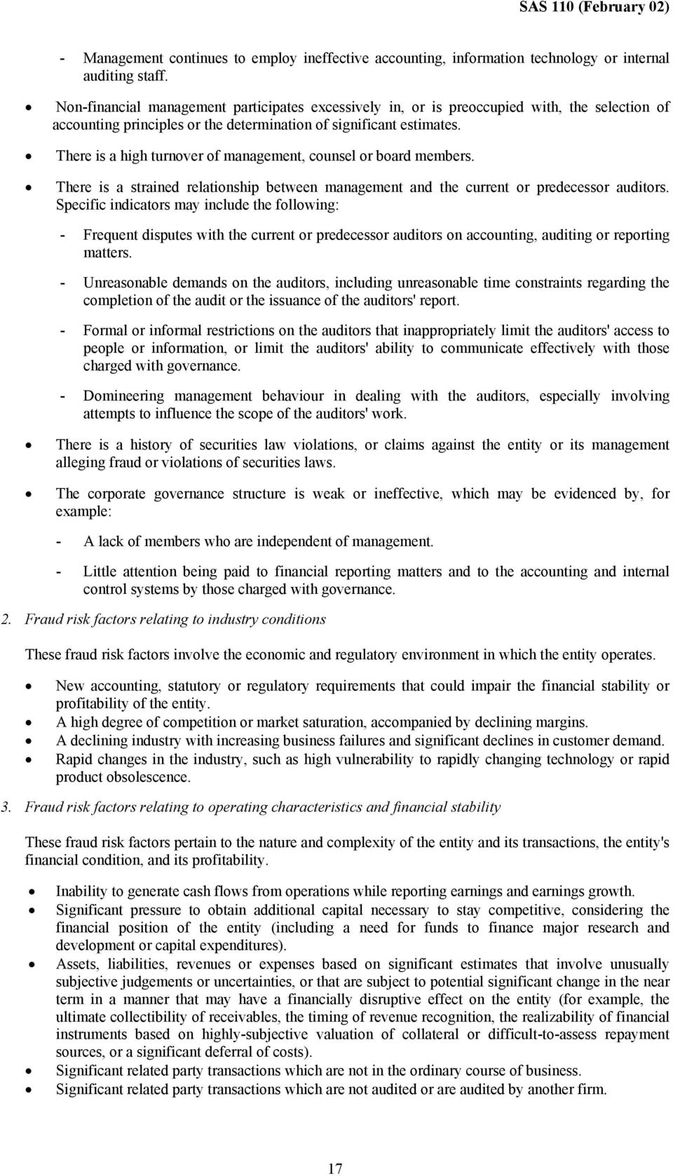 Statement Of Auditing Standards 110 The Auditors Responsibility To Consider Fraud And Error In An Audit Of Financial Statements Pdf Free Download