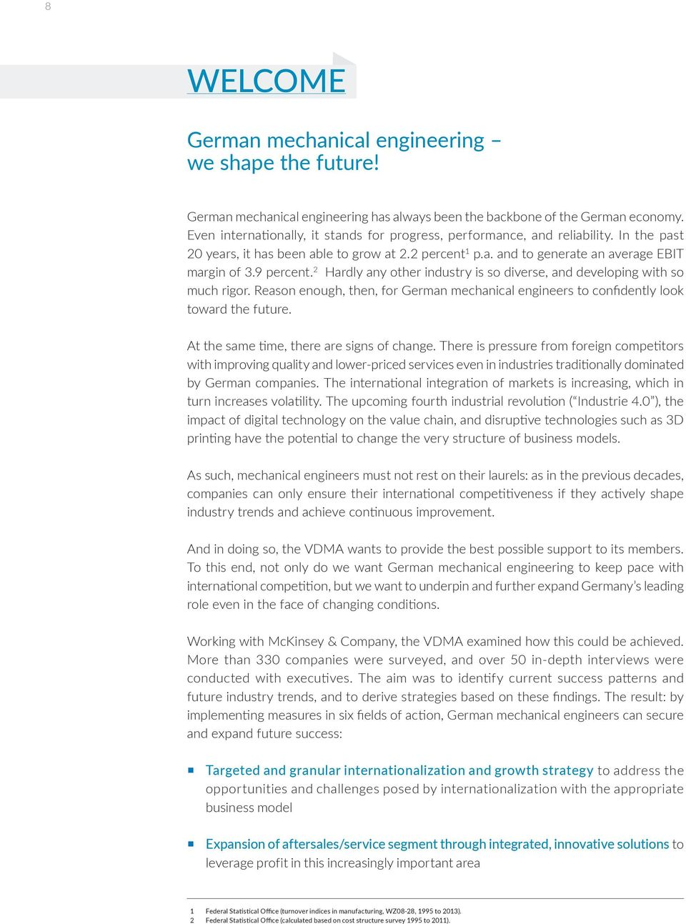 The future of German mechanical engineering  Operating