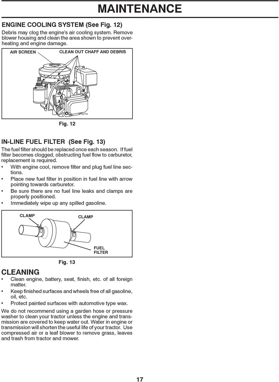 Po17542lt Lawn Tractor Model Operators Manual Sr Warning Pdf Poulan Wiring Diagram If Fuel Filter Becomes Clogged Ob Struct Ing Flow To Car Bu Re Tor