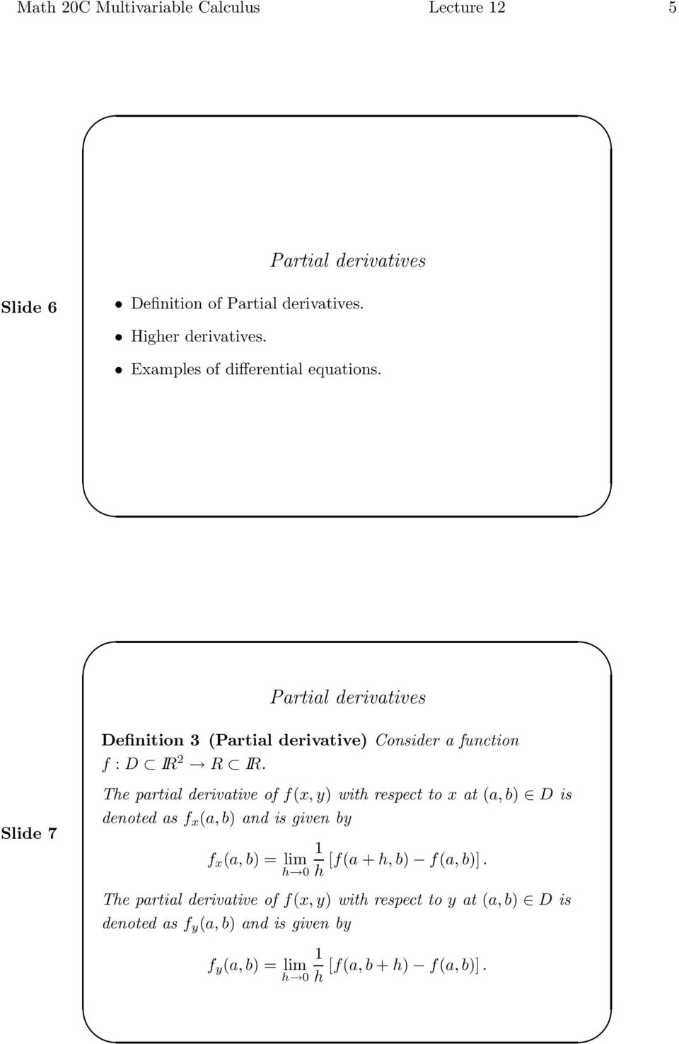 Partial differentiation doc