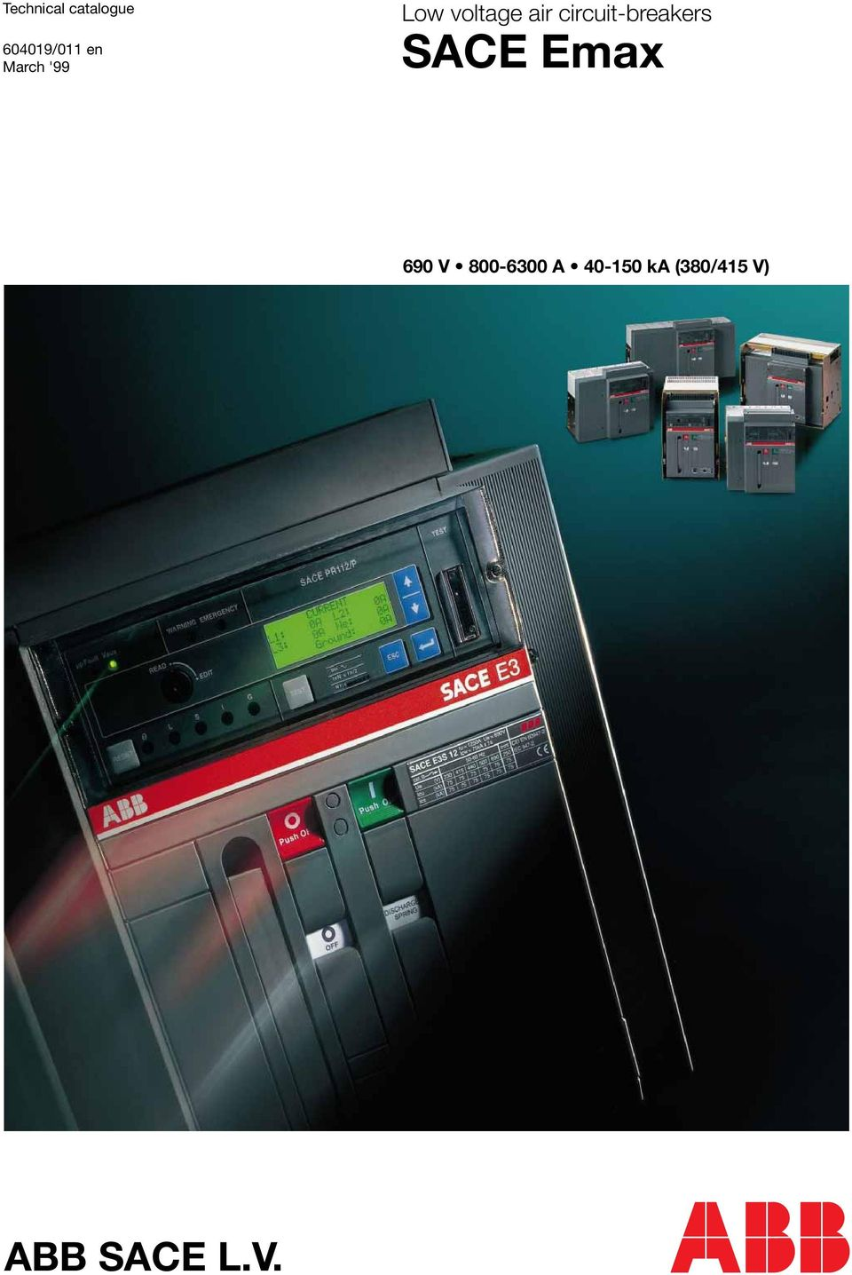 Technical Catalogue Low Voltage Air Circuit Breakers Sace Emax Abb Breaker Wiring Diagram 690 V