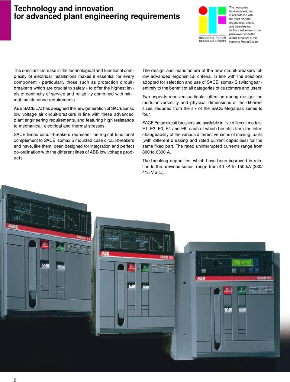 Technical Catalogue Low Voltage Air Circuit Breakers Sace Emax Breaker Installation Essentials Know Which Type Of The Constant Increase In Technological And Functional Complexity Electrical Installations Makes It Essential For