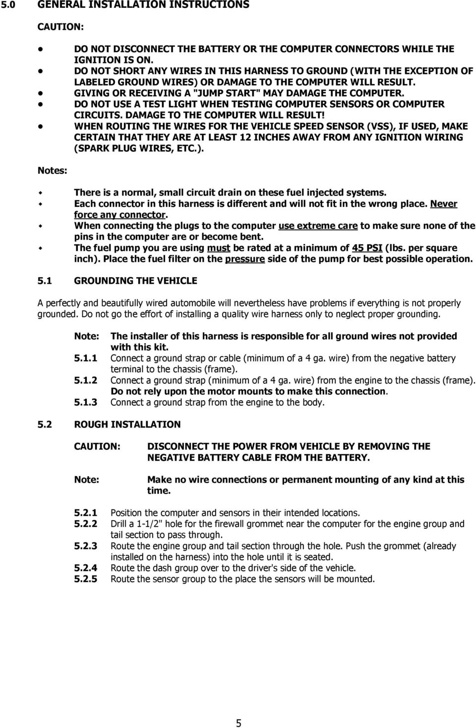Wire Harness Installation Instructions Pdf Spark Plug Do Not Use A Test Light When Testing Computer Sensors Or Circuits Damage To
