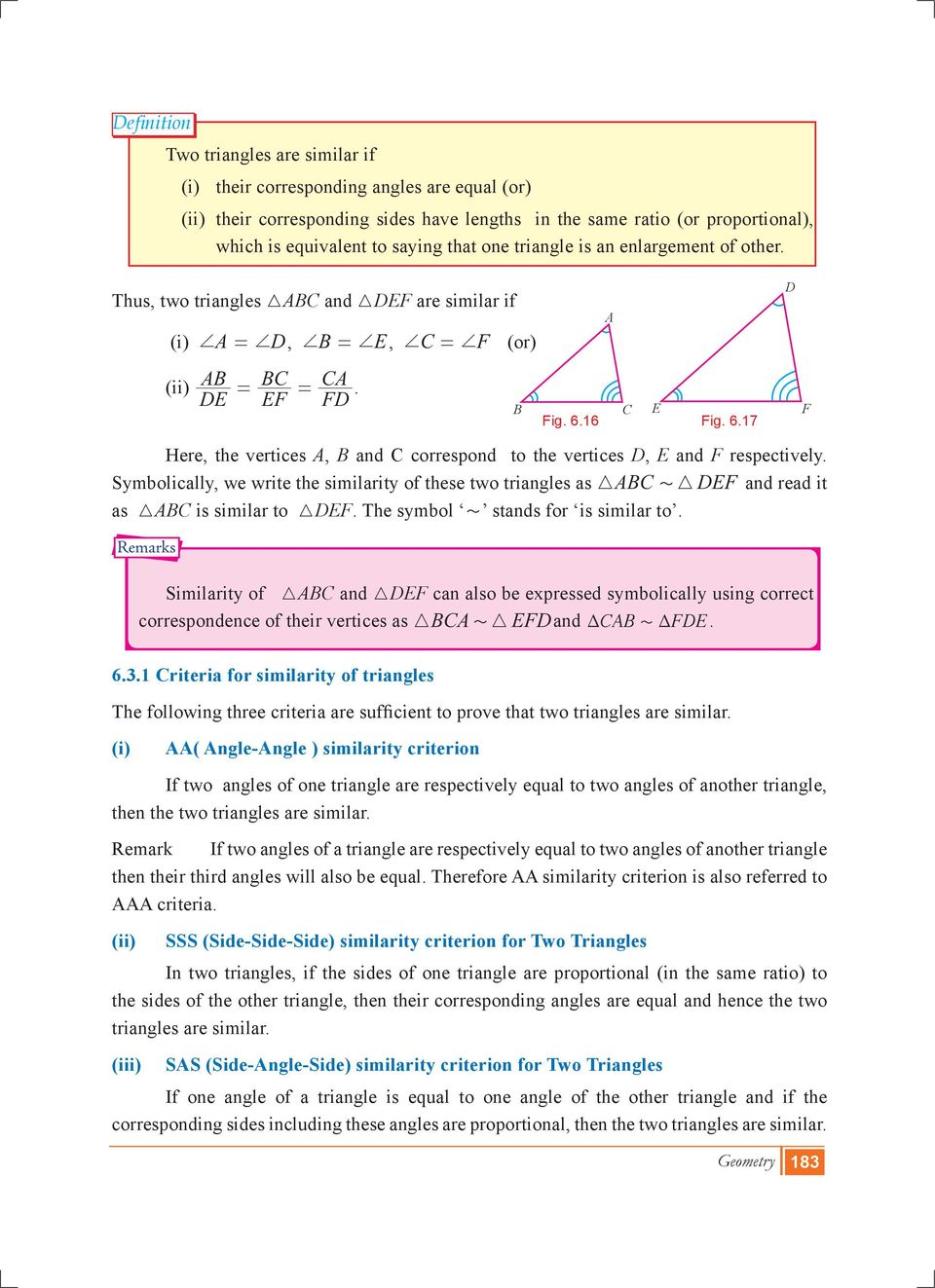 Geometry Introduction Basic Proportionality Theorem Angle Bisector