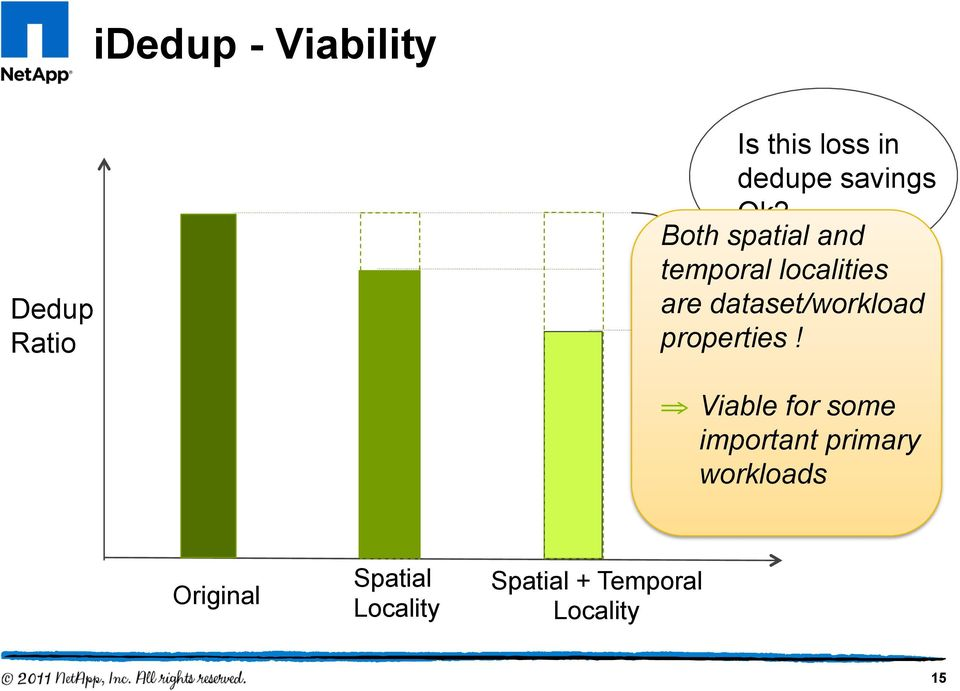 Both spatial and temporal localities are dataset/workload