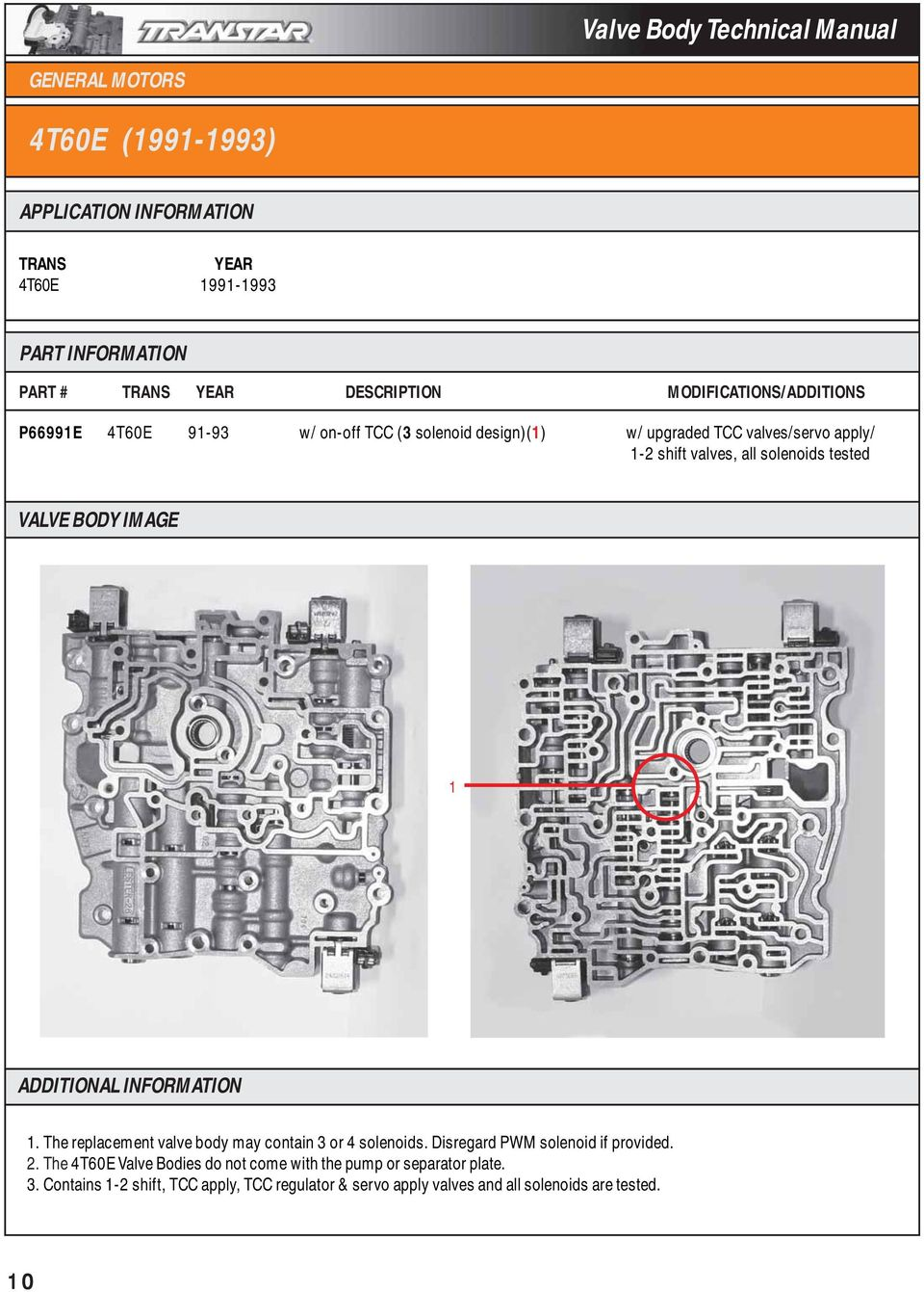125c 1992 Up Valve Body Technical Manual General Motors 4t60e Wiring Diagram The Replacement May Contain 3 Or 4 Solenoids Disregard Pwm Solenoid If Provided