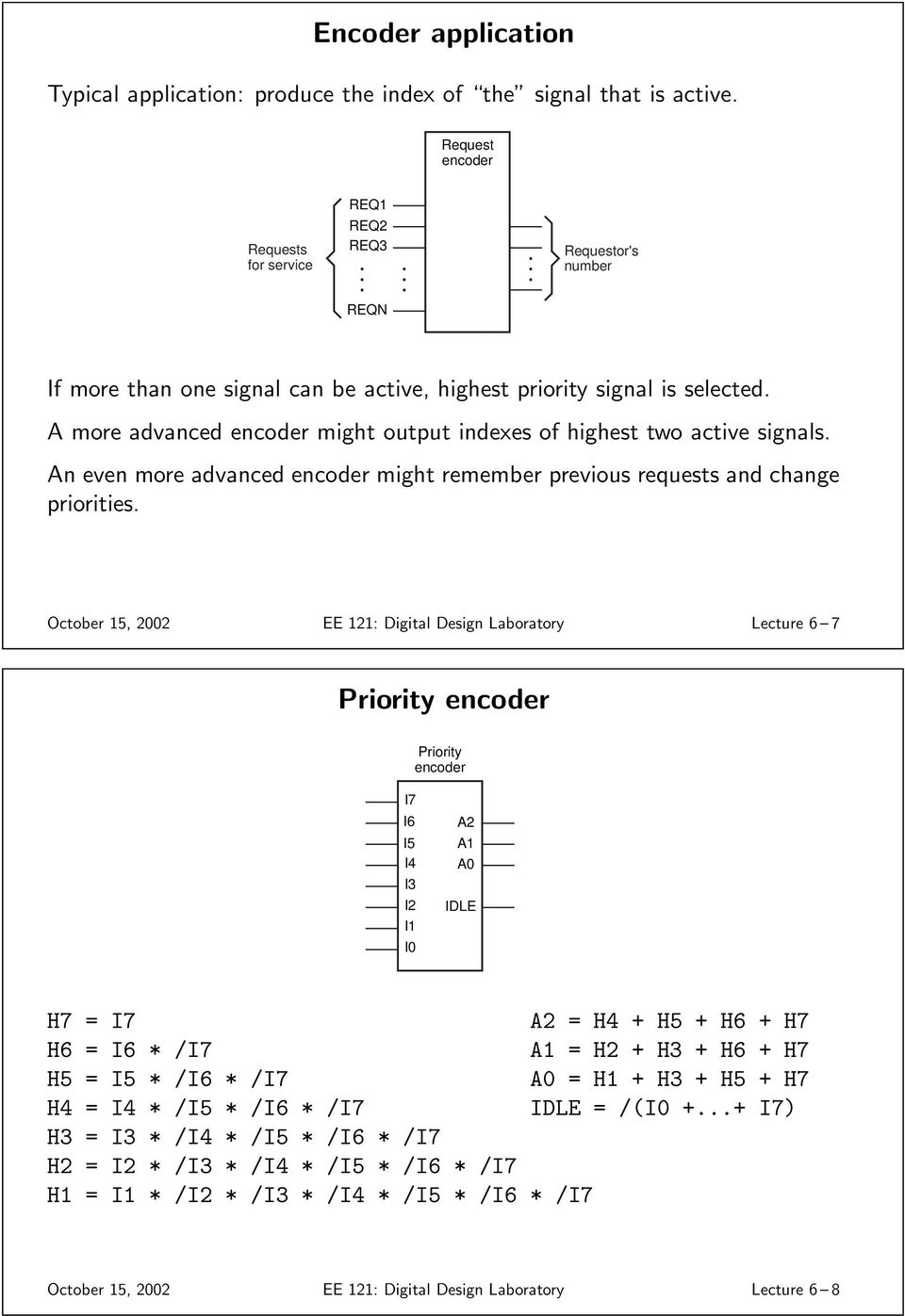 Multiplexers 74x157 Quad 2 To 1 Mux Pdf Logic Diagram Of 8 3 Priority Encoder N Even More Advanced Might Rememer Previous Requests And Change Priorities