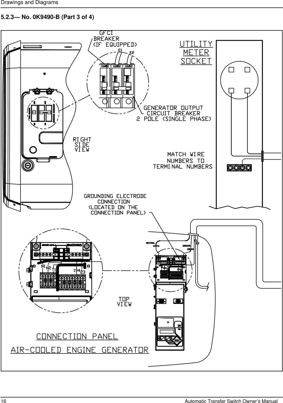 Owner S Manual For Automatic Transfer Switch Amp Service Entrance On 3 Phase Wiring 0k9490 B Part Of 4