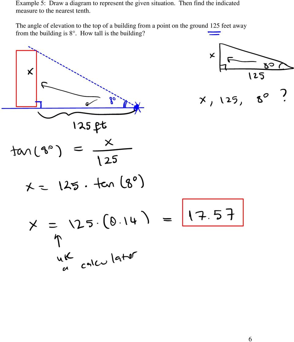 Section 7 1 Solving Right Triangles - PDF