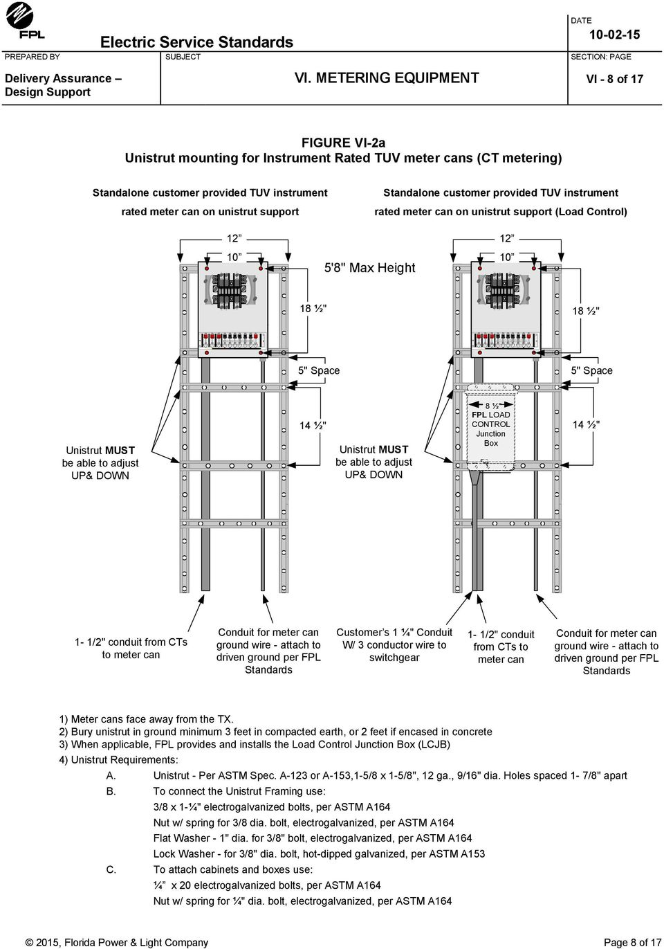 Electric Service Standards Pdf Diagram For Meter Base Wiring With Cts Be Able To Adjust Up Down 8 Fpl Load Control Junction Box 14