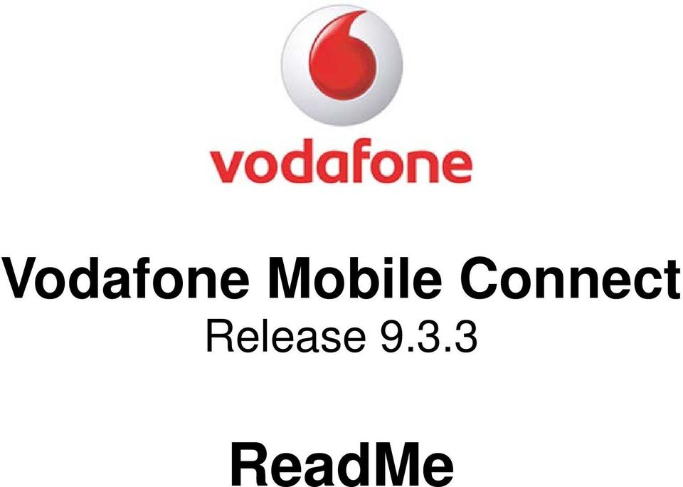 Vodafone Mobile Connect Release ReadMe - PDF