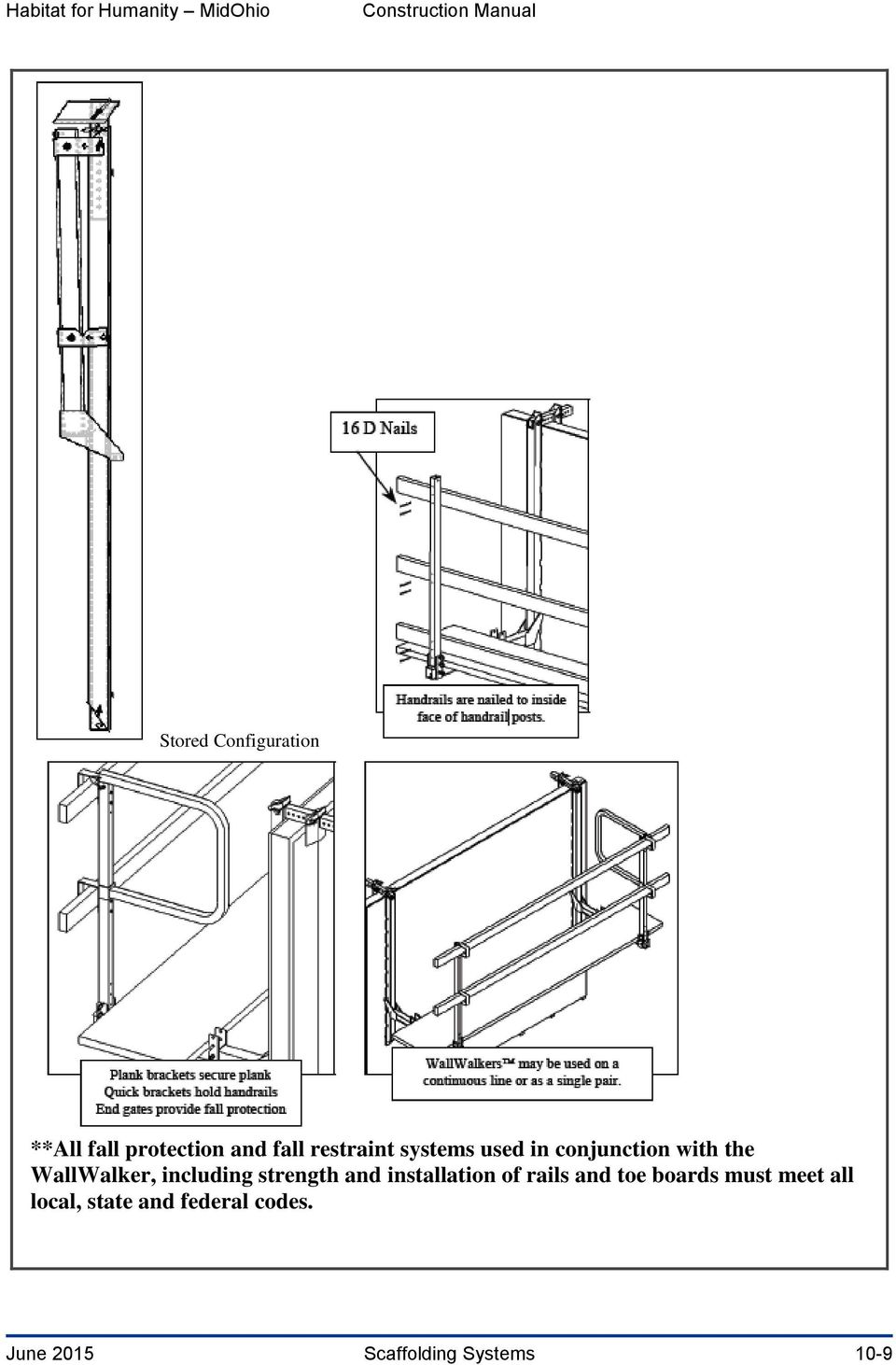 strength and installation of rails and toe boards must meet