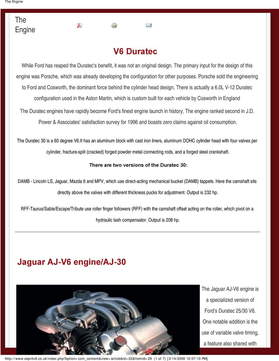 V6 Duratec Jaguar Aj Engine 30 The Pdf 3 0 Ford Assembly Diagram Porsche Sold Engineering To And Cosworth Dominant Force Behind Cylinder Head