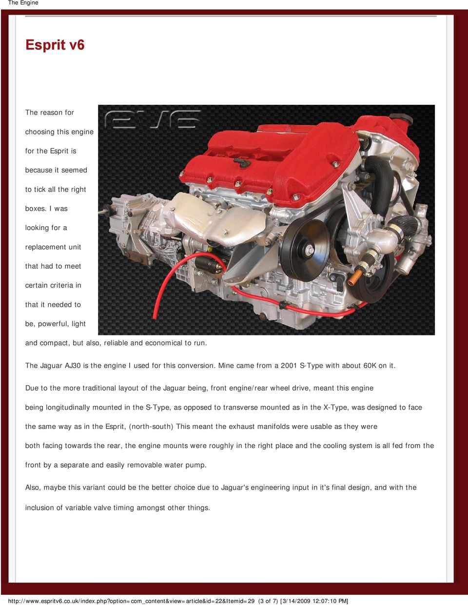 V6 Duratec Jaguar Aj Engine 30 The Pdf 2004 4 2 Diagram Aj30 Is I Used For This Conversion Mine Came From A