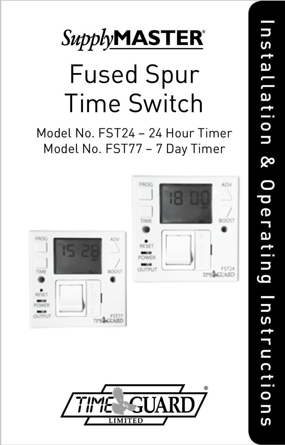 Fused Spur Time Switch Pdf 1 Gang 2 Wire 10a No Neutral Presence Detector Timer Fst77 7 Day General