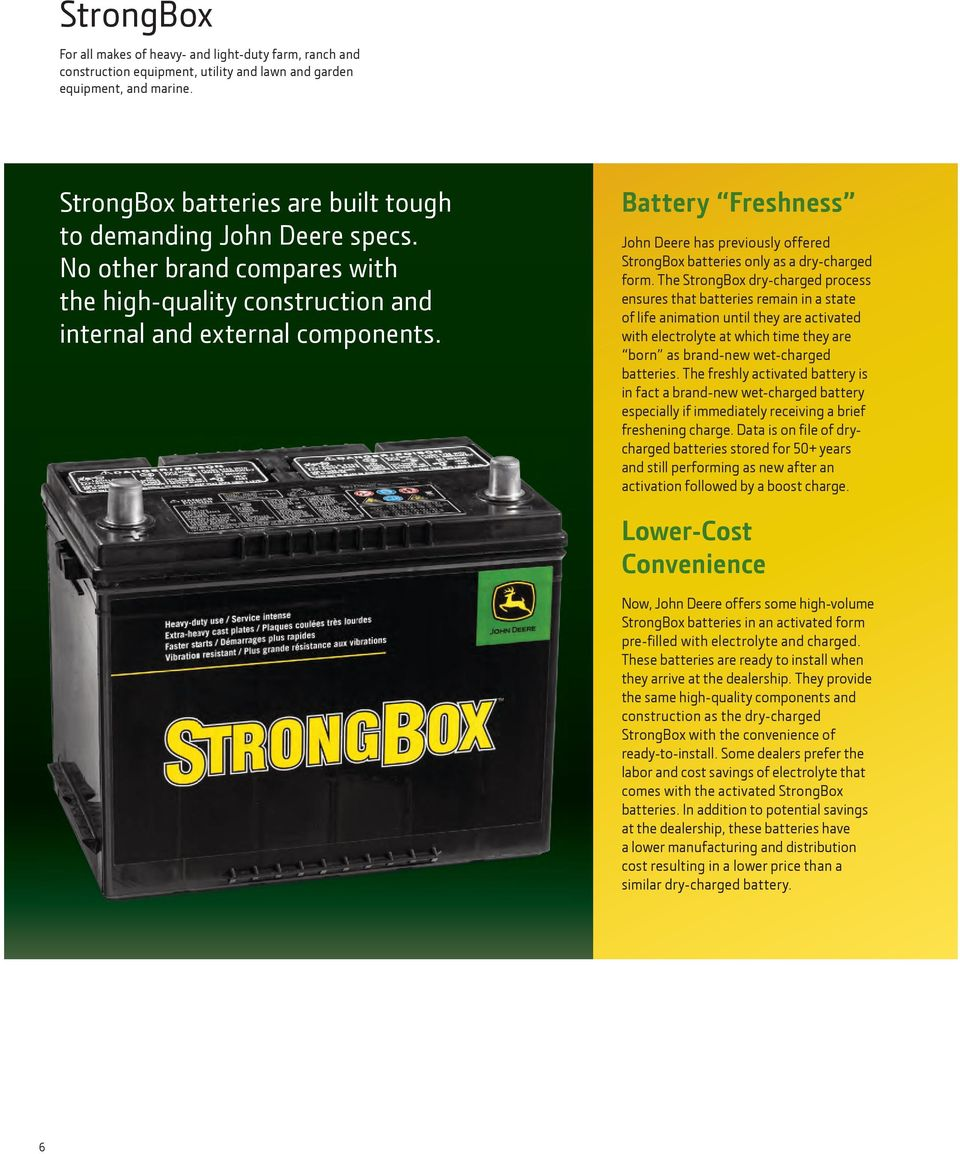 Batteries And Accessories Pdf Dry Cell Battery Diagram Marine Car Freshness John Deere Has Previously Offered Strongbox Only As A Charged Form