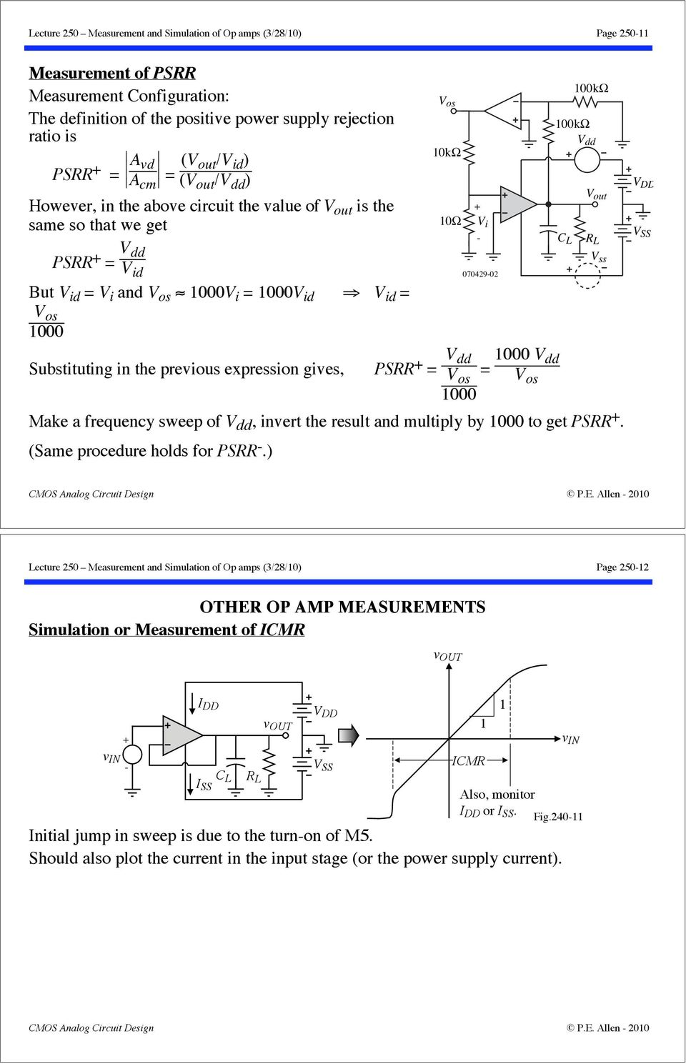 Lecture 250 Measurement And Simulation Of Op Amps 3 28 10 Page Pdf This Is Your Basic Comparator Circuit Using The 741 Amp Nothing Dd V Os Make A Frequency Sweep
