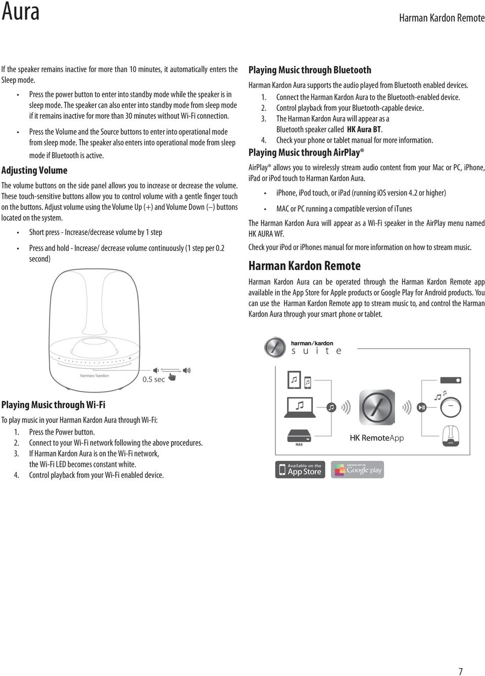 Aura  Wireless Speaker System Owner s Manual - PDF