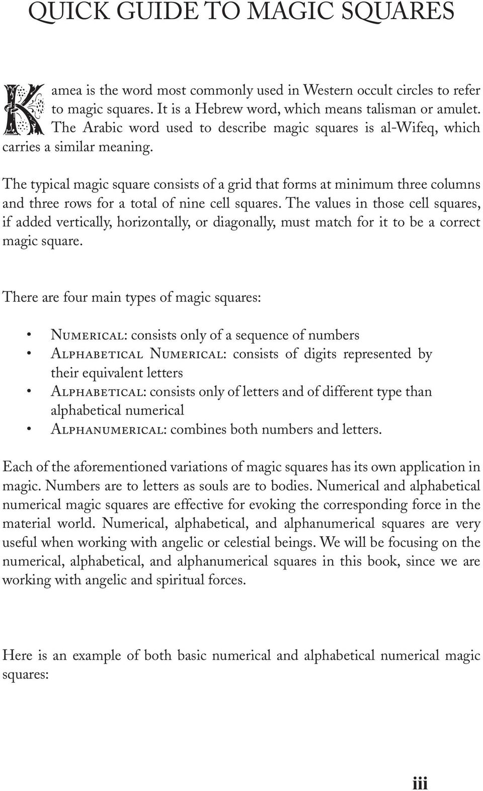 OCCULT ENCYCLOPEDIA OF MAGIC SQUARES PLANETARY ANGELS AND
