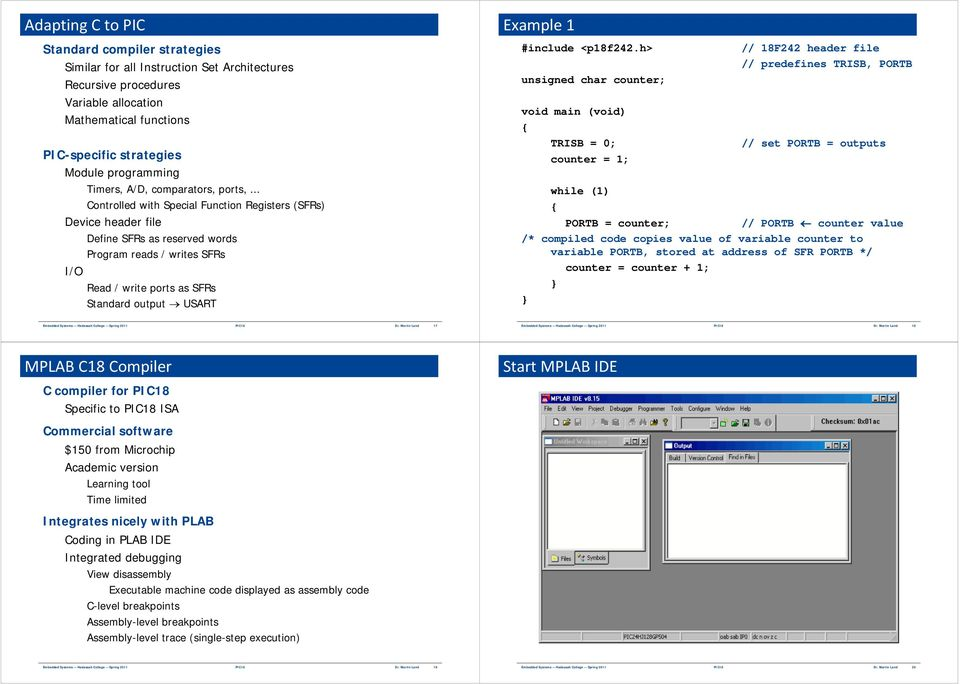 PIC18 and Embedded C Programming - PDF