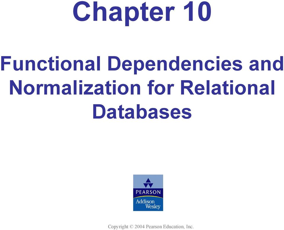 Normalization for Relational