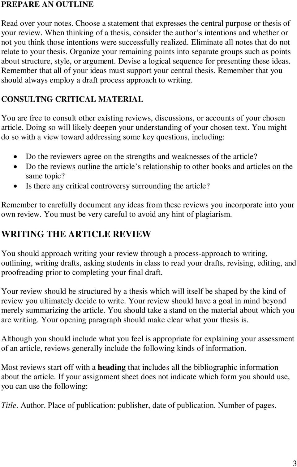 article review form