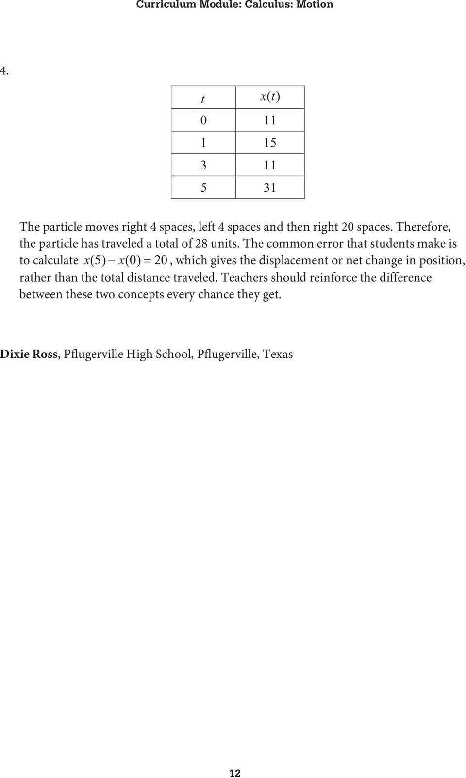Worksheet 1 What You Need To Know About Motion Along The X Axis