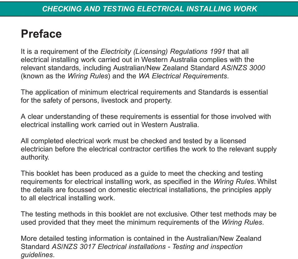 checking and testing electrical installing work pdf rh docplayer net Speaker Wiring Installation FiOS Installation Diagram