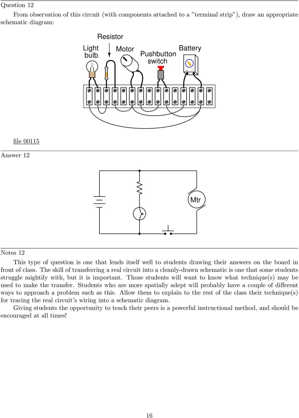 Series Parallel Dc Circuits Pdf Circuit A Resistance And Lamps May Be Connected In The Skill Of Transferring Real Into Cleanly Drawn Schematic Is One That