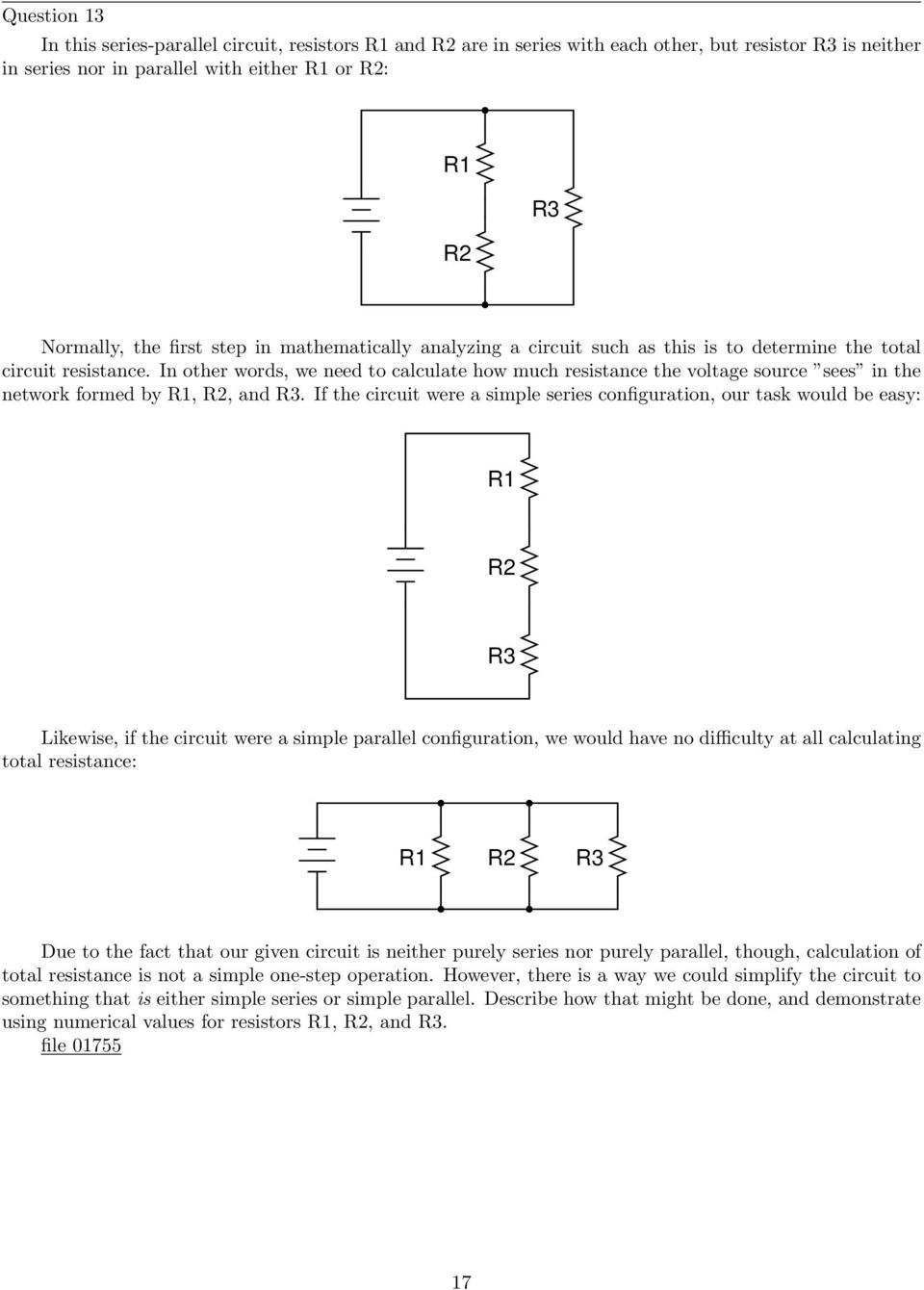 Series Parallel Dc Circuits Pdf Circuit With A Voltage Source Such As Battery Or In This Other Words We Need To Calculate How Much Resistance The Sees