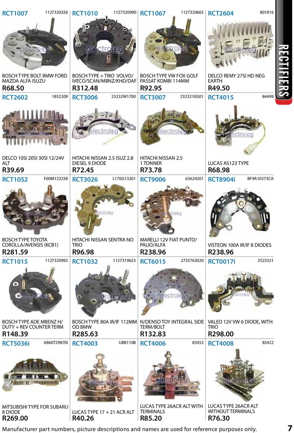 Offers R Each R1 December January Str1068i I Bosch Type 27si Delco Remy Alternator Wiring Diagram 69 Rct1052 F00m123238 Hitachi Nissan 25 Isuz 28 Diesel 9 Diode R7245 Rct3026 L170g13201