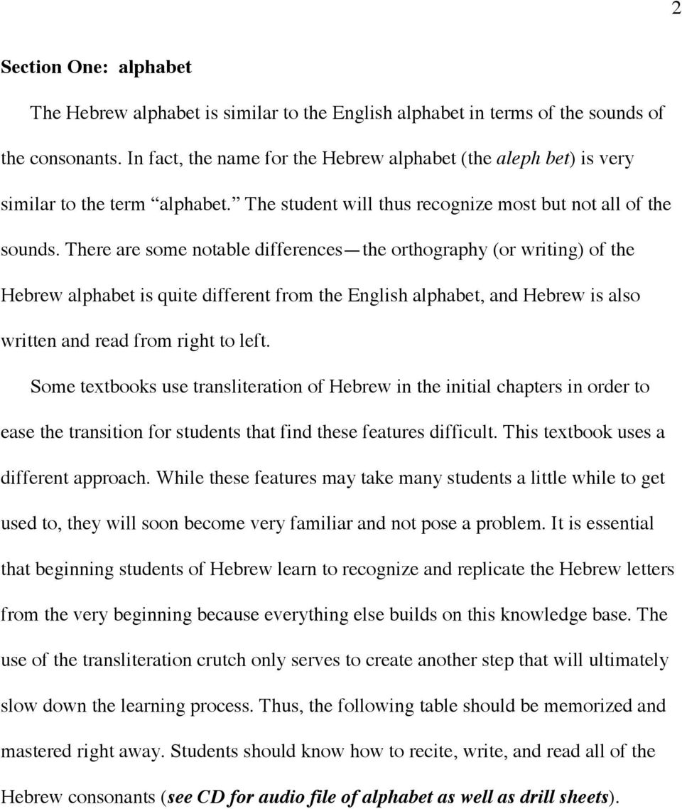 A Student s Introduction to Biblical Hebrew DRAFT COPY NOT FOR