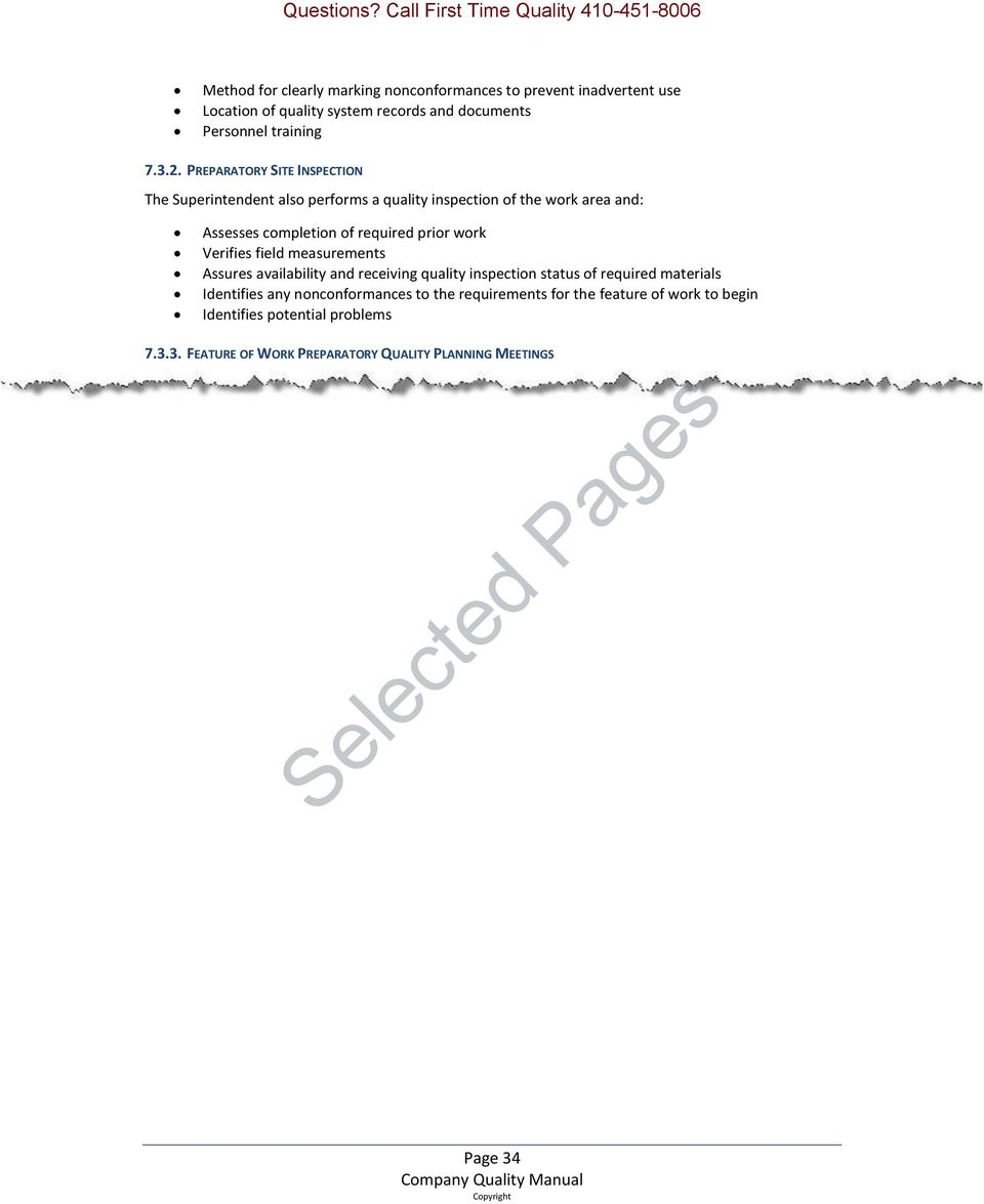 Usace Navfac Sample Qa Qc Plan 20 Selected Pages Out Of Pdf Free Download