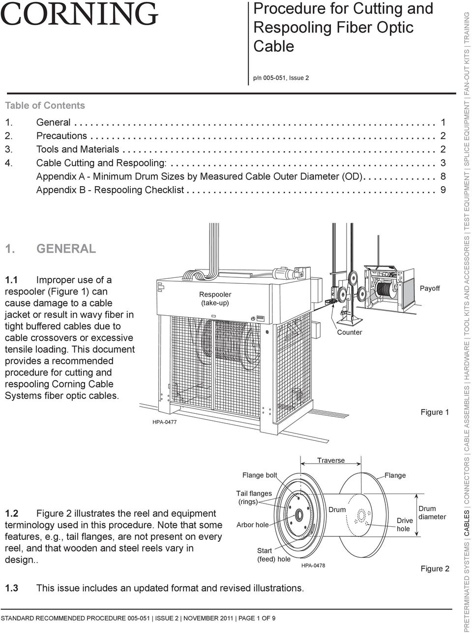 Procedure For Cutting And Respooling Fiber Optic Cable Pdf Wire Diagram This Document Provides A Recommended Corning Systems Cables