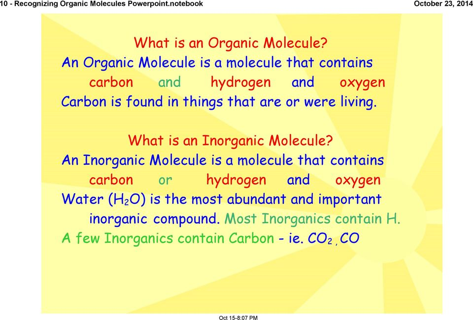 Recognizing Organic Molecules Carbohydrates Lipids And Proteins Pdf