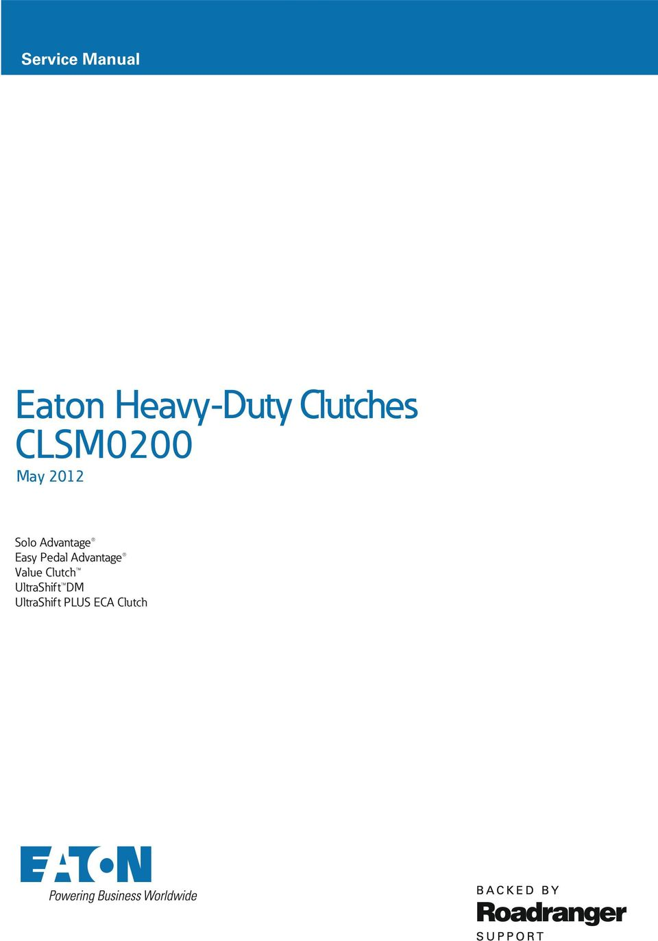 Eaton Heavy-Duty Clutches CLSM0200 May PDF