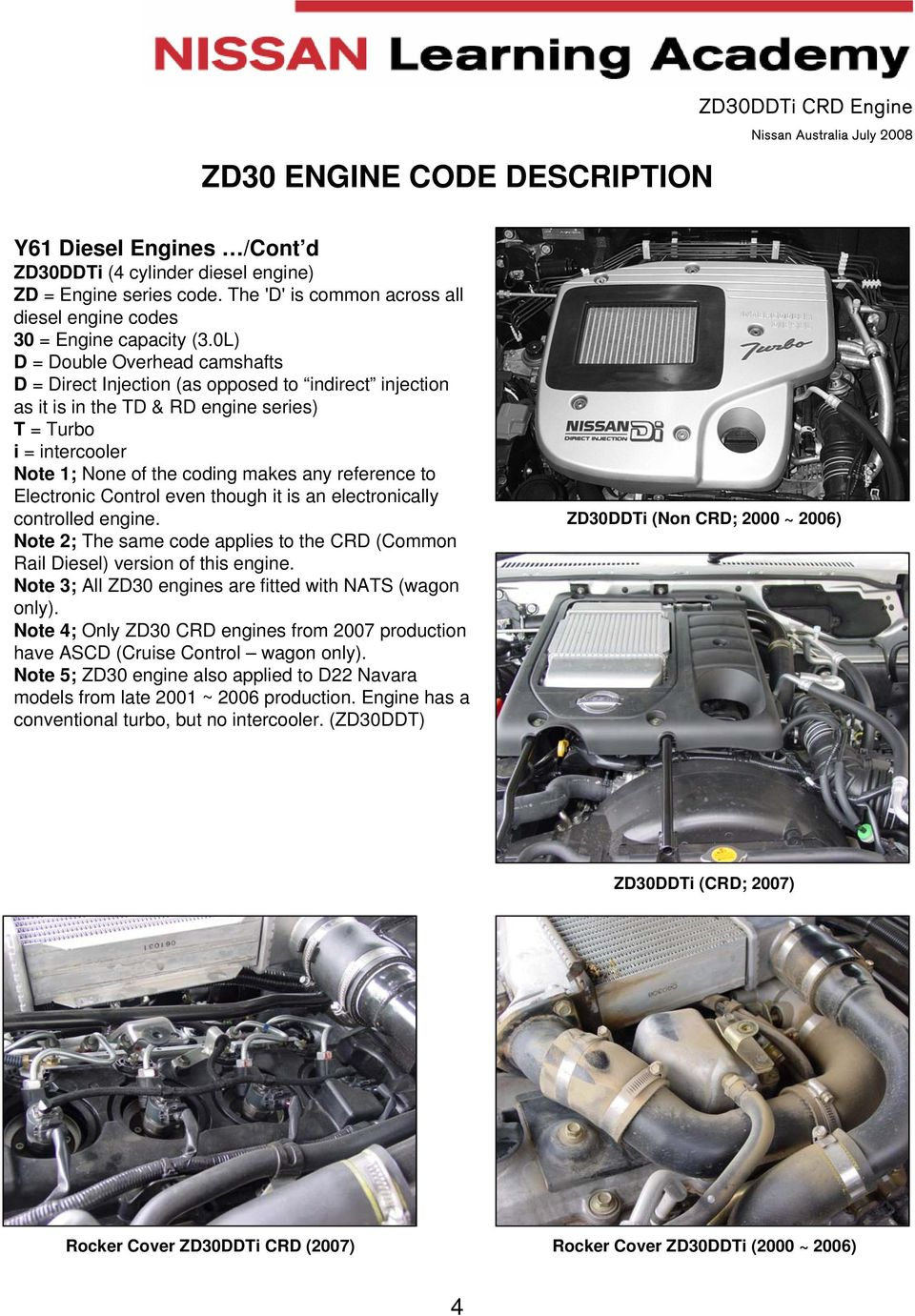 reference to Electronic Control even though it is an electronically  controlled engine. Note 2;