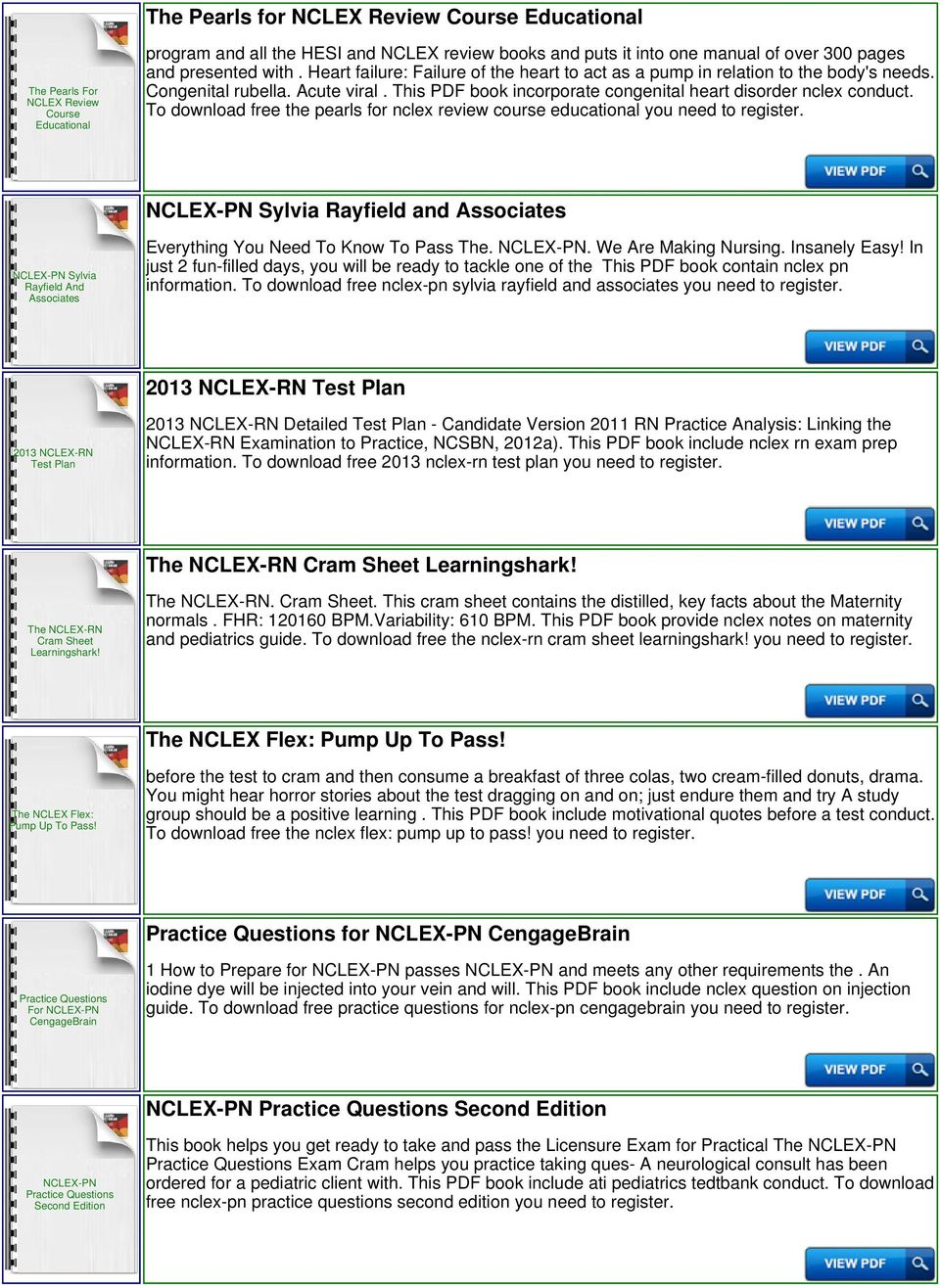 Nclex rn exam questions free download.