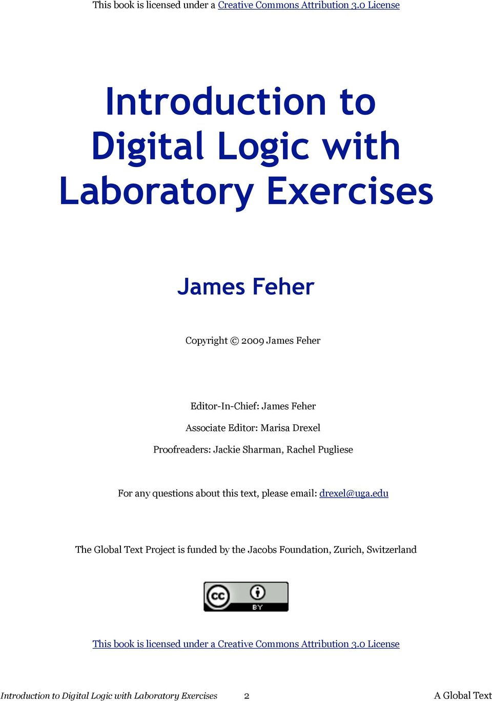 Introduction To Digital Logic With Laboratory Exercises Pdf Circuitlab 555 Bistable Circuit Email Drexeluga