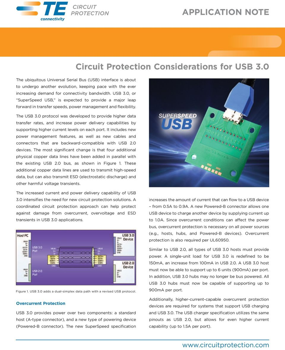 APPLICATION NOTE  Circuit Protection Considerations for USB