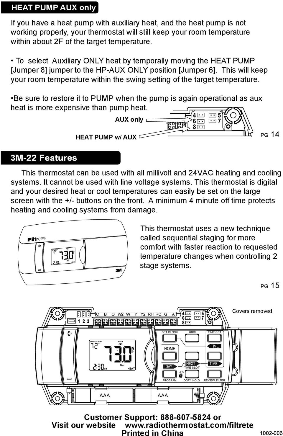 Operation Guide 3m 22 Pdf Filtrete Thermostat Wiring Diagram This Will Keep Your Room Temperature Within The Swing Setting Of Target Be
