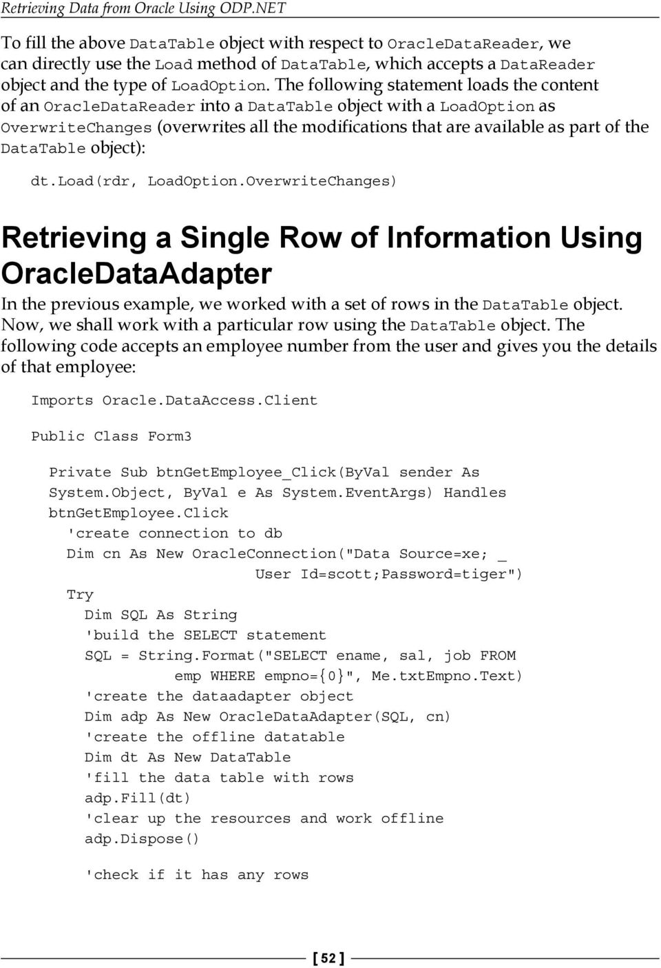 Retrieving Data from Oracle Using ODP NET - PDF