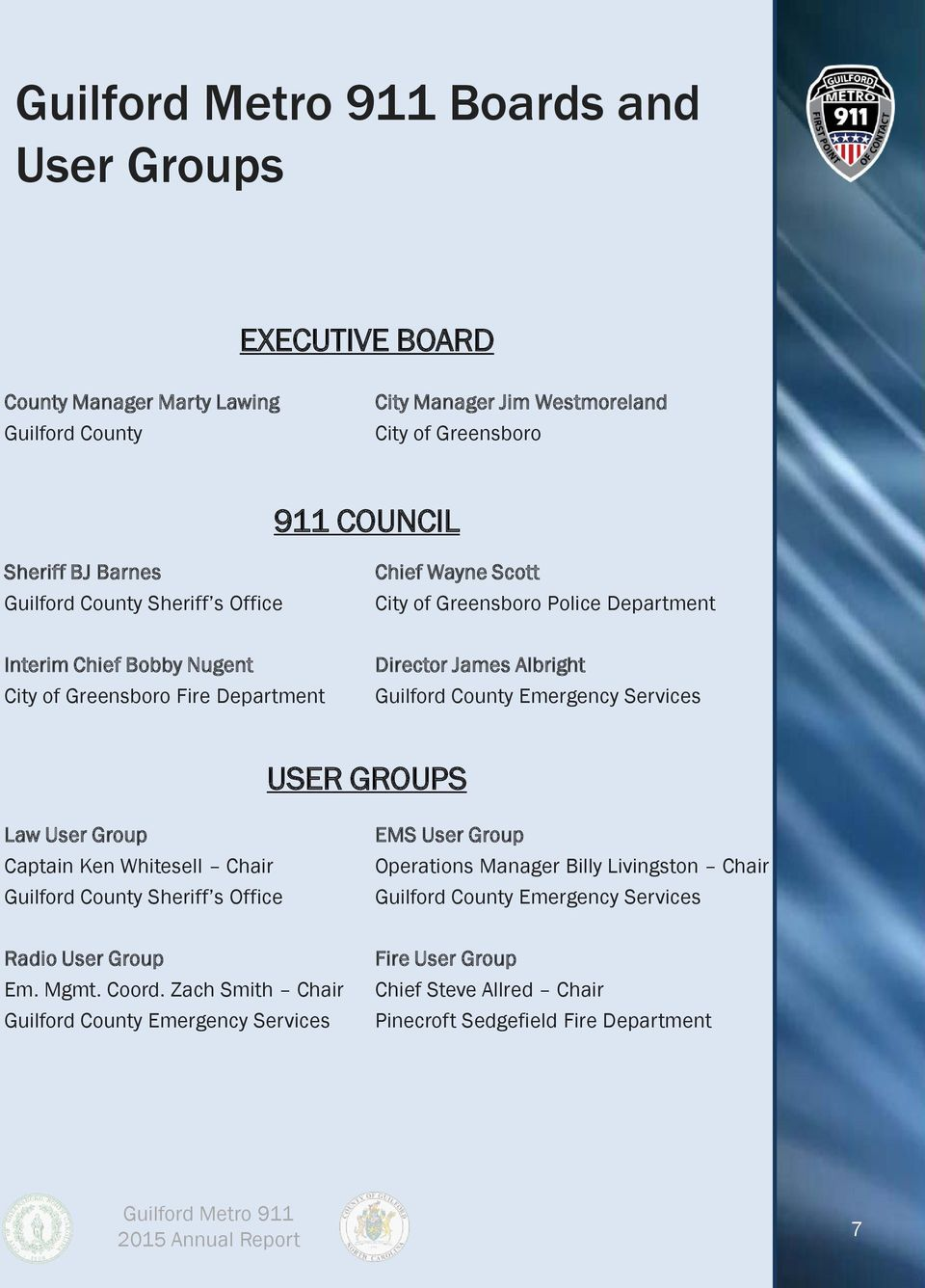 Guilford Metro 911 One Call   One Center   One Source - PDF