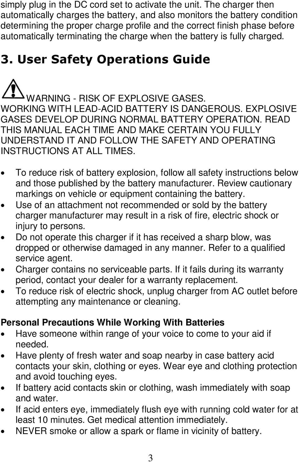 Accusense Charge Series On Off Board Fully Automatic Battery Charger Wiring Diagram For 36 Volt Power Wise When The Is Charged 3 User Safety Operations Guide Warning